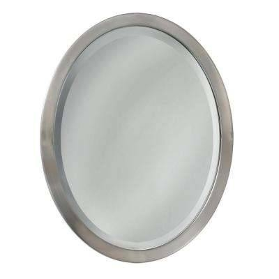 Oval – Mirrors – Wall Decor – The Home Depot Pertaining To White Oval Mirrors (View 19 of 20)