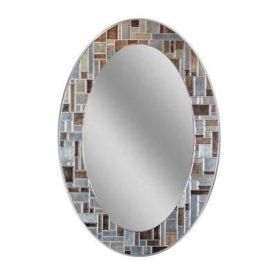 Oval – Mirrors – Wall Decor – The Home Depot Regarding Large Oval Wall Mirrors (#24 of 30)