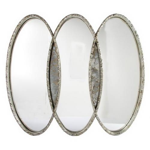 Oval Silver Mirror | Inovodecor Within Triple Oval Mirrors (#12 of 20)