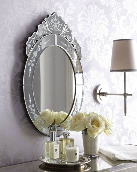Oval Venetian Style Mirror With Venetian Style Mirrors (#15 of 30)