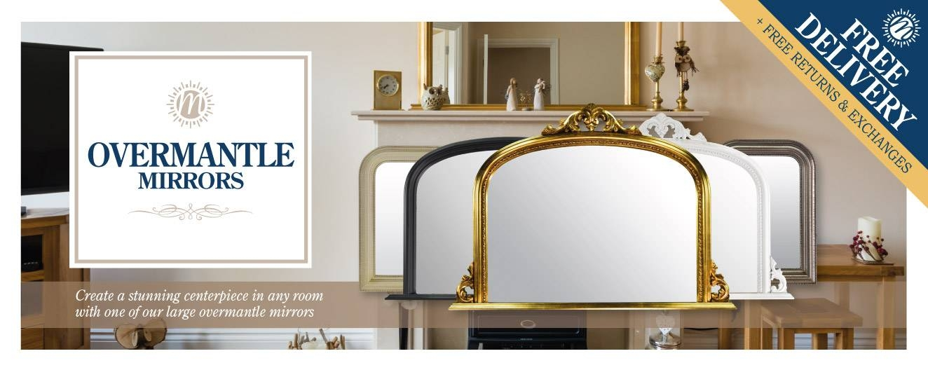 Over Mantle Mirrors For Sale | Mirror Outlet In Large Mantel Mirrors (#27 of 30)