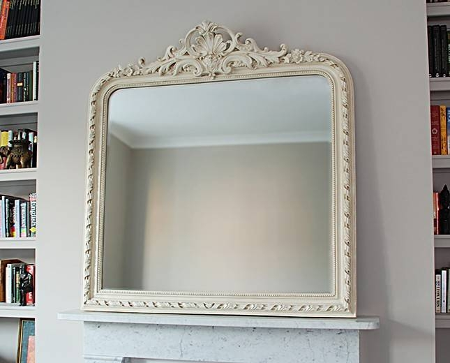 Inspiration about Overmantle Mirror. Ornate Cream Crested Overmantel Mirror 112 X In White Overmantle Mirrors (#4 of 30)