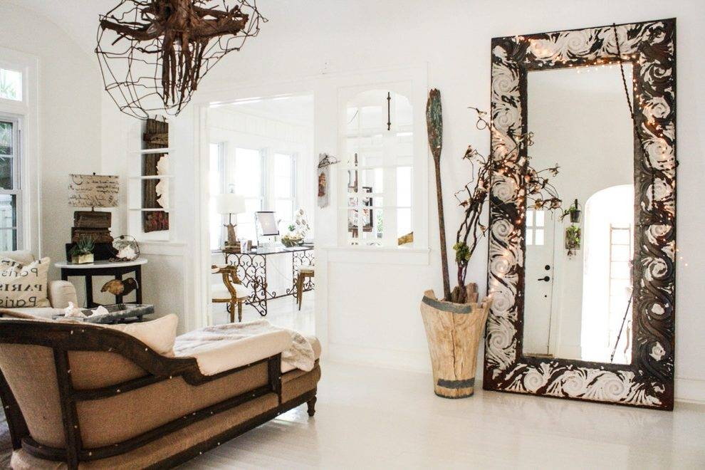 Oversized Floor Mirror Dining Room Traditional With Leaning Mirror With Shabby Chic Floor Mirrors (#10 of 20)