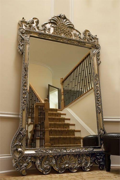 Oversized Floor Mirror – Waternomics For Vintage Ornate Mirrors (#14 of 15)