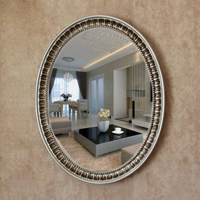 Oy 055 2016 New Mirror Oval Pu Large Oval Antique Decorative Inside Large Oval Wall Mirrors (#26 of 30)
