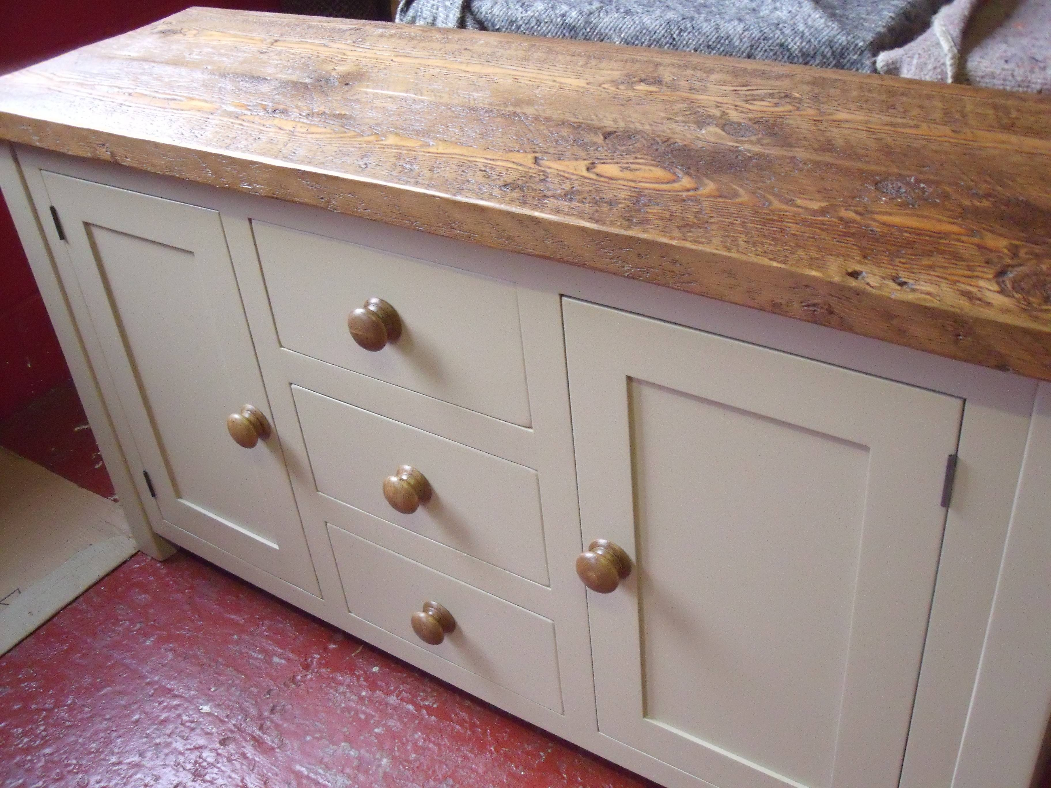Painted Oak Topped Sideboard | The Pinehouse Company Within Free Standing Kitchen Sideboard (View 11 of 20)