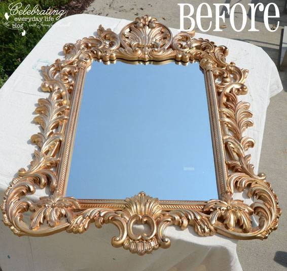 Painting With Annie Sloan Chalk Paint Inside Gold Antique Mirrors (#16 of 20)