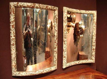 Pair Of Antique French Curved Mirrors – Sold – Intended For Curved Mirrors (View 12 of 30)
