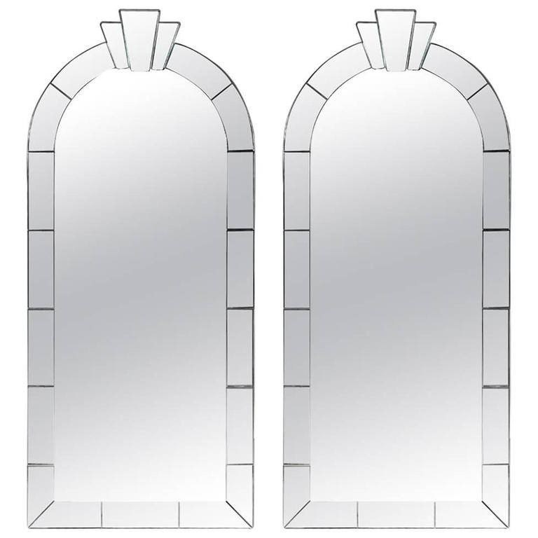 Pair Of Dome Top Art Deco Style Mirrorskarl Springer For Sale For Art Deco Style Mirrors (#19 of 20)