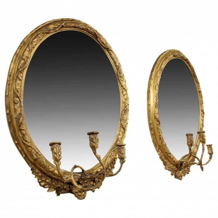 Pair Of George Iii Gilt Mirrors / Girandole | Georgian Antiques Intended For Gilt Mirrors (View 16 of 20)