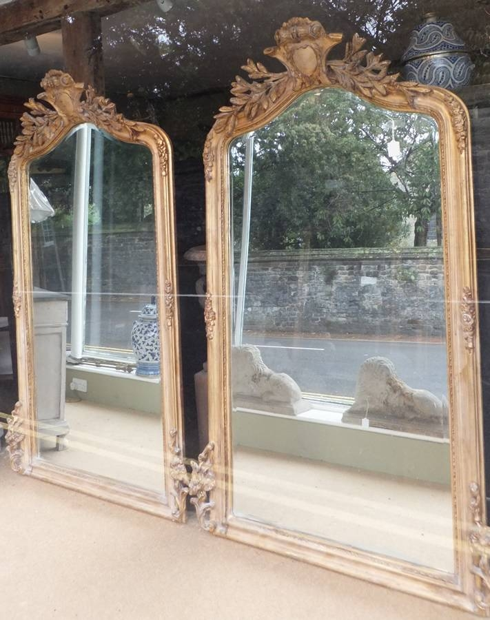 Pair Of Giltwood French Mirrors | Antique Mirrors Throughout French Mirrors (#19 of 20)