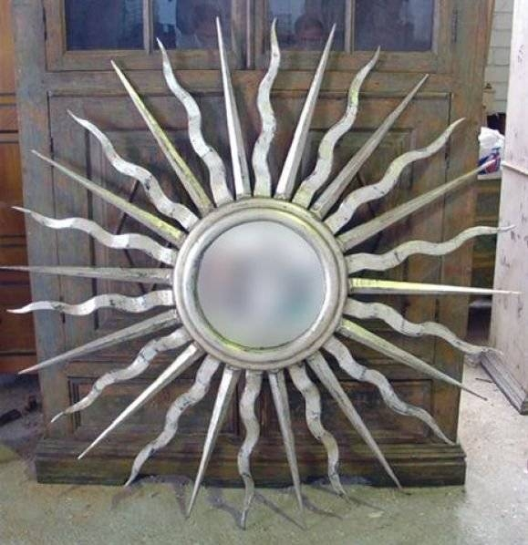 Pair Of Large Silver Leaved Sunburst Mirror For Sale At 1Stdibs Intended For Large Sunburst Mirrors (#14 of 20)