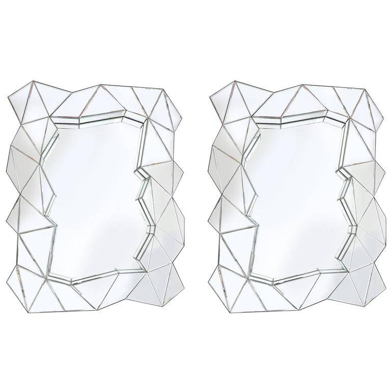 Pair Of Odd Shaped Mirrors For Sale At 1Stdibs With Odd Shaped Mirrors (#16 of 20)