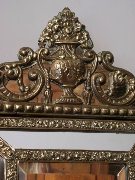 Pair Of Small Antique Wall Mirrors, Pair Of Dutch Mirrors, Pair Of In Small Antique Wall Mirrors (#24 of 30)