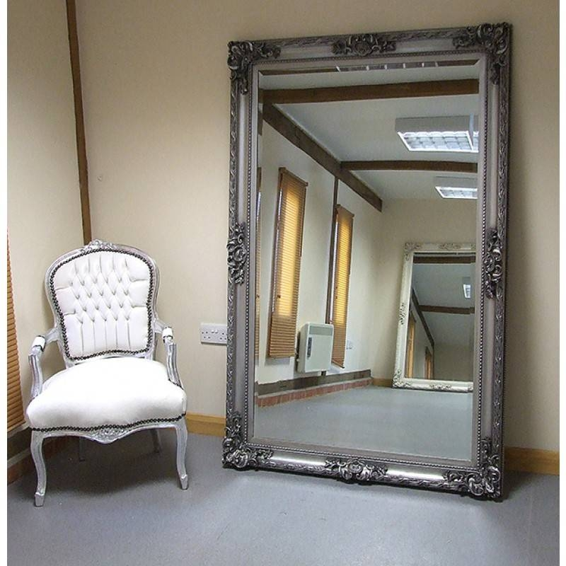 Paris Extra Large Shabby Chic Antique Style Leaner/wall Mirror With Large Shabby Chic Mirrors (#14 of 20)