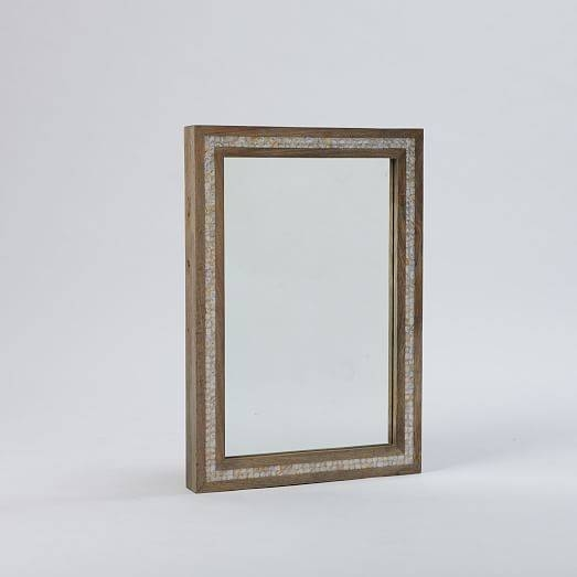 Parsons Wall Mirror – Mother Of Pearl | West Elm For Mother Of Pearl Wall Mirrors (#24 of 30)