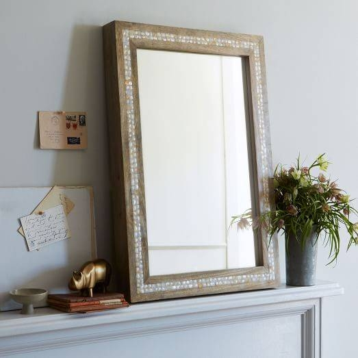 Inspiration about Parsons Wall Mirror – Mother Of Pearl | West Elm Within Mother Of Pearl Wall Mirrors (#5 of 30)
