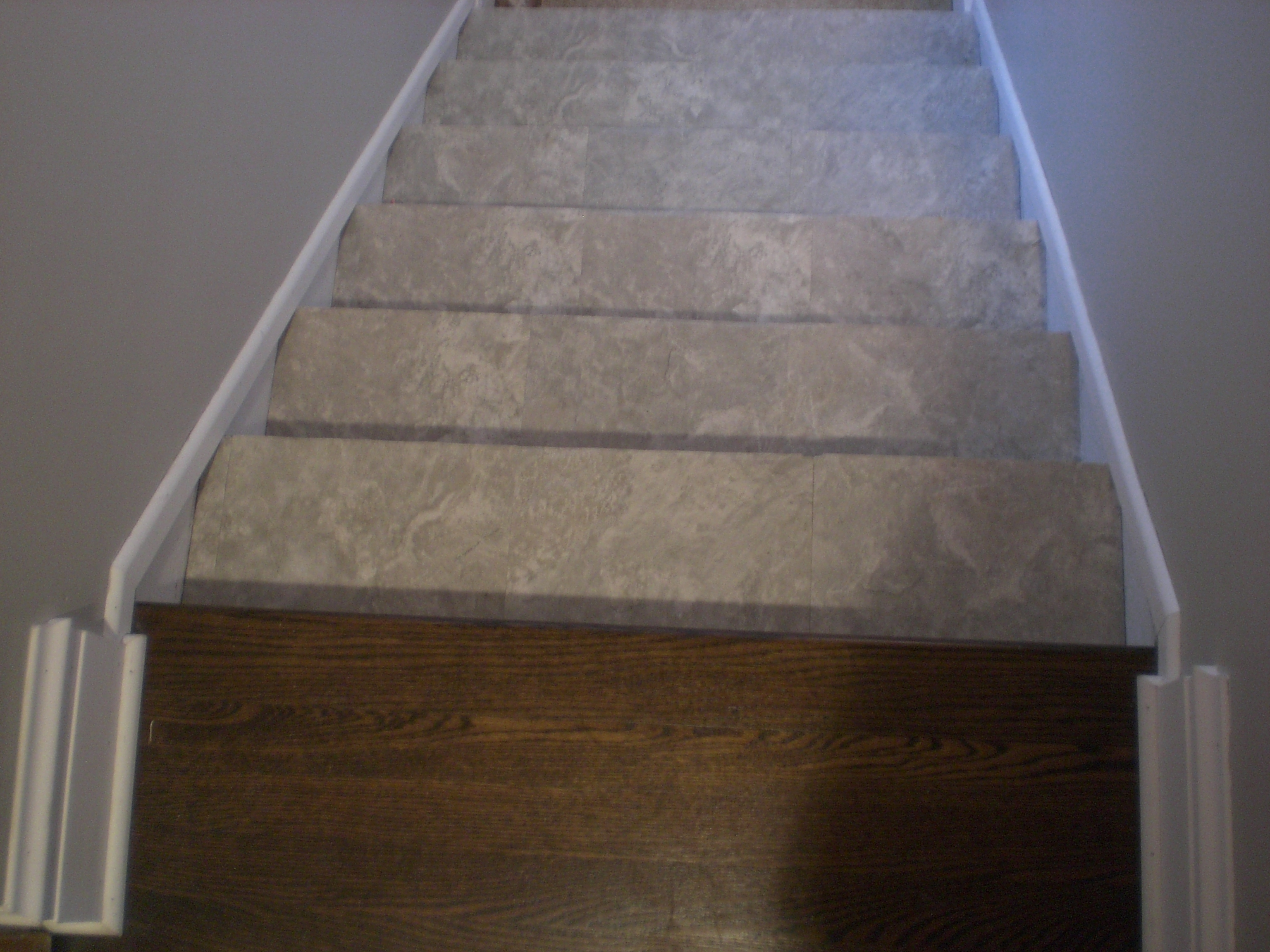 Peel And Stick Vinyl Plank Flooring On Stairs Floor Decoration With Regard To Stick On Carpet For Stairs (View 19 of 20)