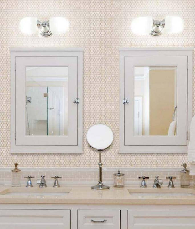 Penny Round Mother Of Pearl Wall Mirror Tile | Hominter Throughout Mother Of Pearl Wall Mirrors (#26 of 30)