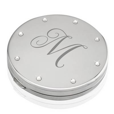 Personalized Purse Mirrors | Engraved Compact Mirrors Throughout Mirrors With Crystals (#26 of 30)