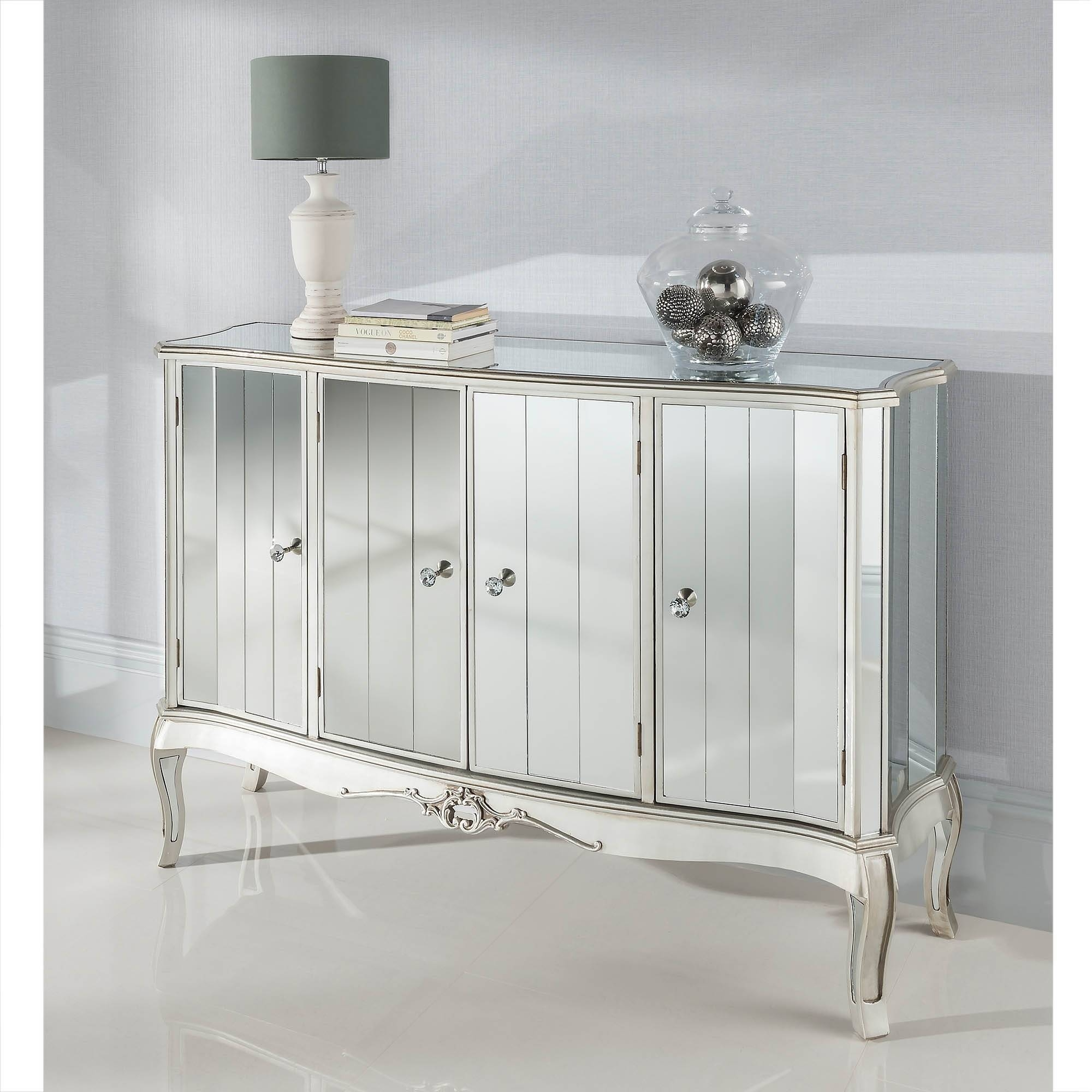 Perugia Mirrored Cabinet | Glass Furniture Online In Mirrored Sideboards (#13 of 20)