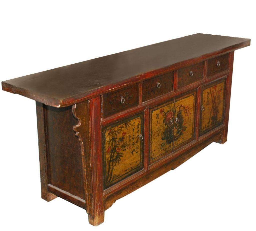 Petersen Antiques | Antique Chinese Sideboard In Chinese Sideboards (View 4 of 20)