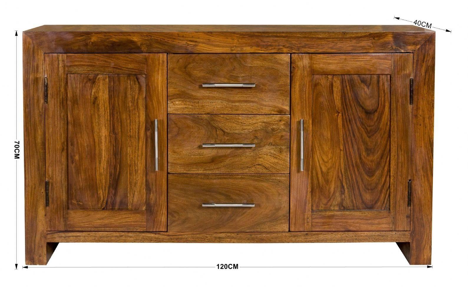 Petite Chunky 100% Solid Sheesham Wood Sideboard Cabinet Regarding Sheesham Sideboards (View 12 of 20)