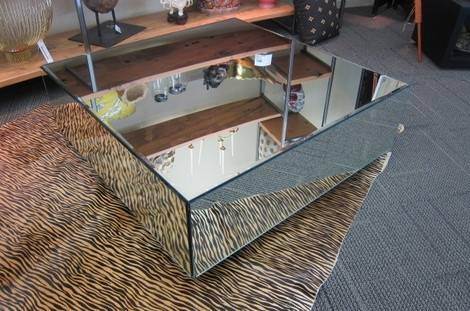 Picture Of Square Mirrored Coffee Table | Living Room | Pinterest With Regard To Occasional Tables Mirrors (#30 of 30)