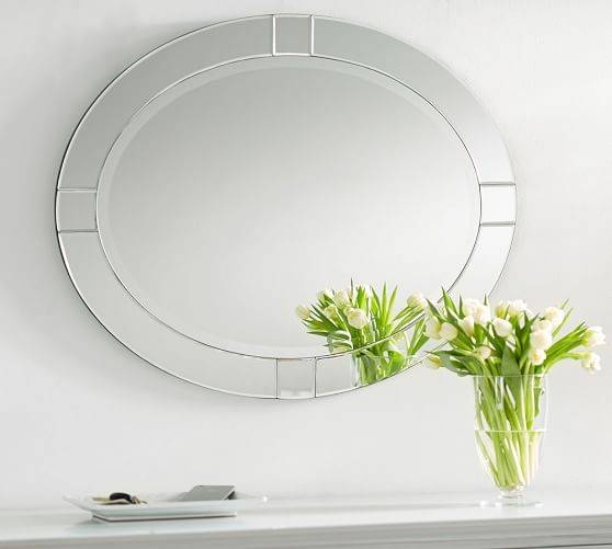 Pieced Oval Mirror | Pottery Barn Inside Beveled Edge Oval Mirrors (#19 of 20)