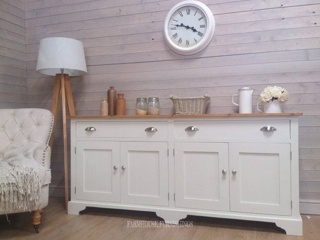 Pine Sideboards For Sale, Solid Pine 6Ft Sideboard, Farmhouse Regarding Sideboards For Sale (#11 of 20)