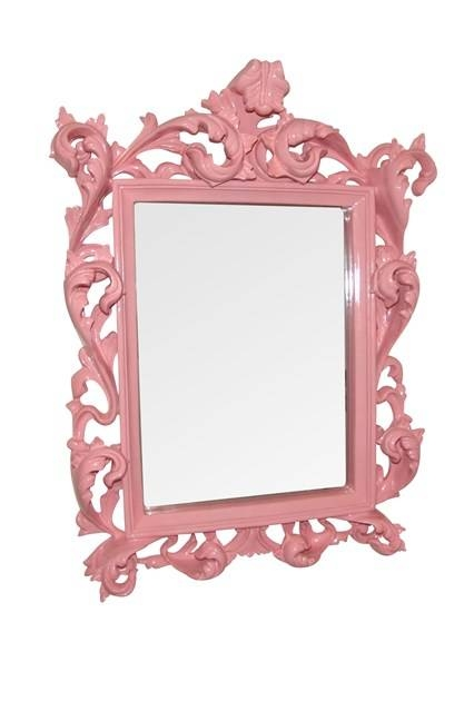 Pink French Shabby Chic – Wall Mirrors – Bathroom & Dressing Table Within French Shabby Chic Mirrors (#18 of 20)