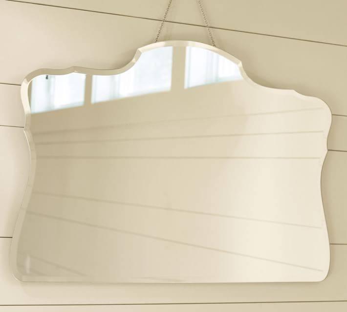 Piper Frameless Bevel Mirror | Pottery Barn Within Large Frameless Mirrors (#18 of 20)