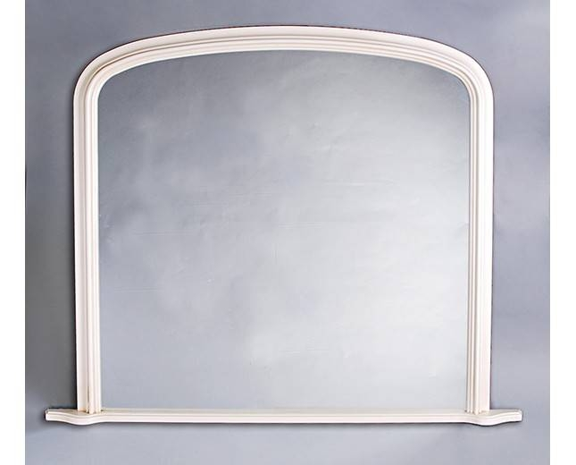 Inspiration about Plain Antique White Overmantle With Regard To White Overmantle Mirrors (#10 of 30)
