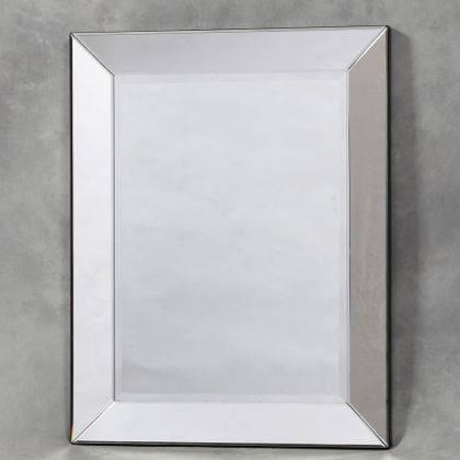 Plain Square Venetian Mirror Frameless Bevelled Mirror Rectangular Pertaining To Venetian Bevelled Mirrors (#15 of 20)