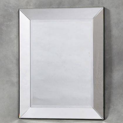 Plain Square Venetian Mirror Frameless Bevelled Mirror Rectangular With Regard To Square Venetian Mirrors (#10 of 20)