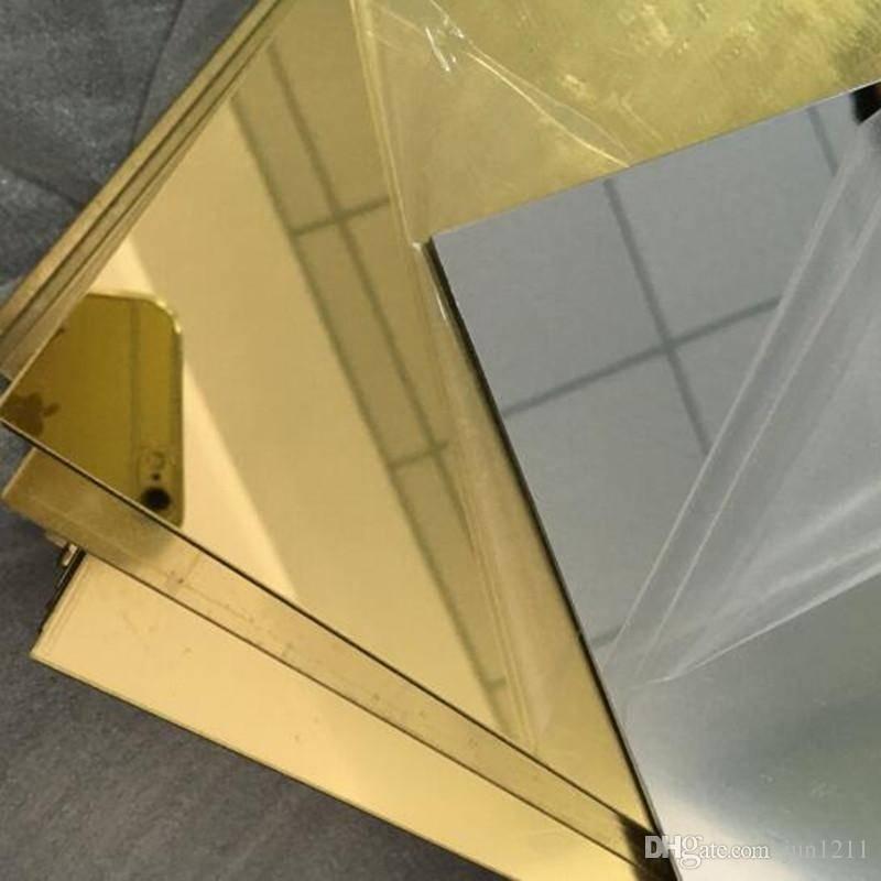 Plastic Acrylic Plexiglass Square Gold Mirrors Diameter 200X300Mm For Square Gold Mirrors (#14 of 20)