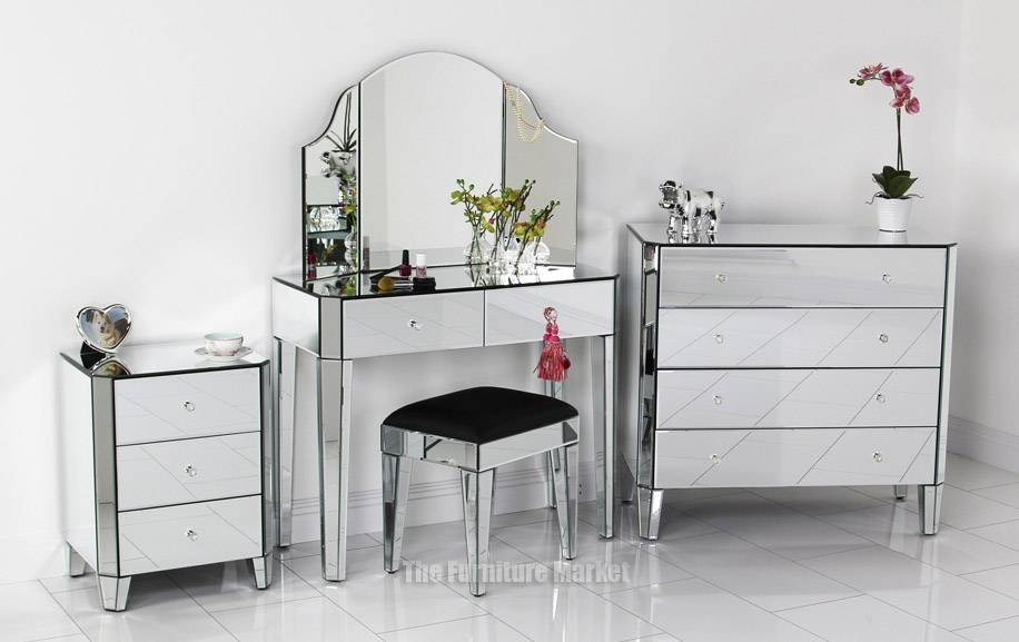 Plush Art Deco Dressing Table Mirrors Dressing Table Also Mirror Throughout Venetian Dressing Table Mirrors (#18 of 30)