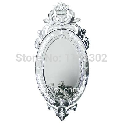 Popular Venetian Glass Mirror Buy Cheap Venetian Glass Mirror Lots Regarding Venetian Oval Mirrors (View 14 of 15)