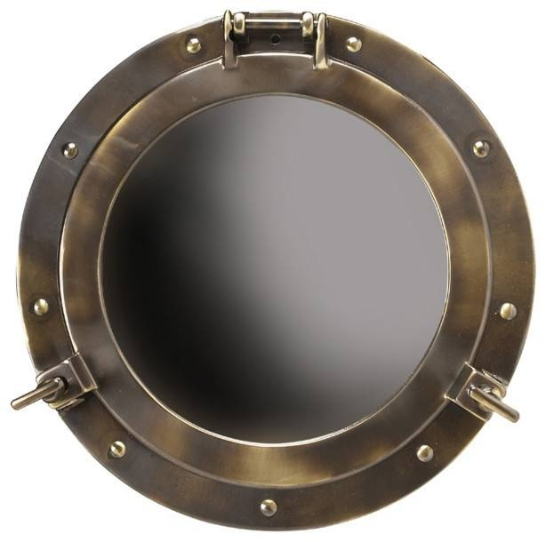 Porthole Mirror, Large – Beach Style – Wall Mirrors  Inviting In Porthole Style Mirrors (#12 of 20)
