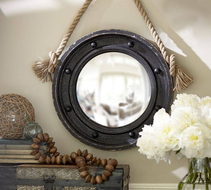 Porthole Mirror | Pottery Barn With Round Porthole Mirrors (#17 of 30)