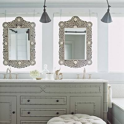 Pretty Bathroom Mirrors. Bathroom Makeover Reveal (#10 of 20)