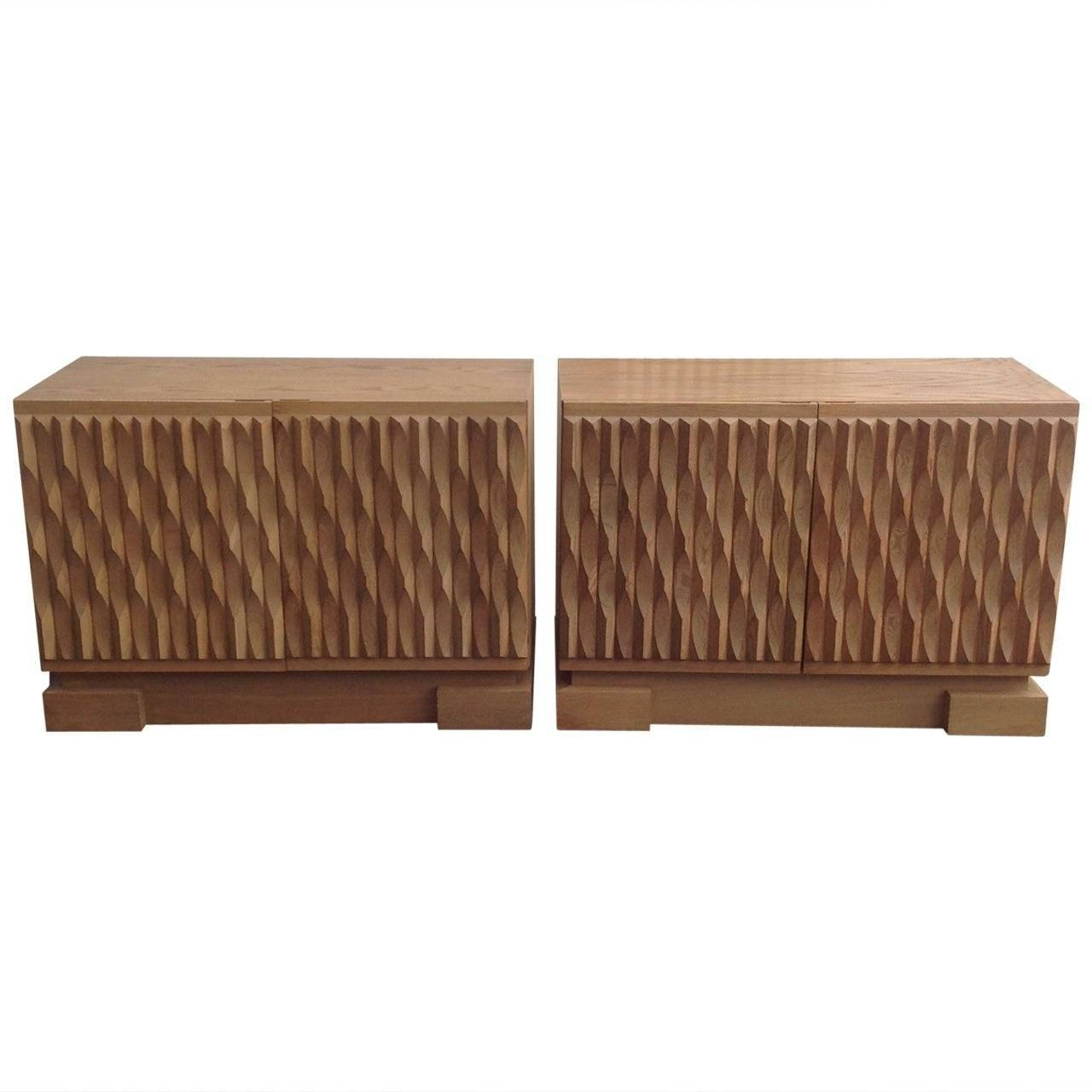 Price For 2 Belgium Brutalist Credenza Small Sideboards In Solid With Regard To Small Sideboards (#11 of 20)