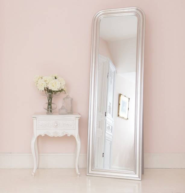 Provencal Charm Bedside Table With Sterling Full Length Mirror For Shabby Chic Long Mirrors (#22 of 30)