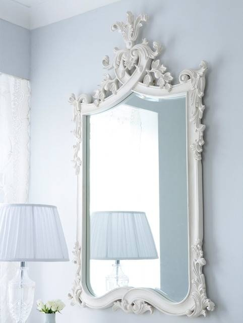 Provencal Heart Top French Mirror – Traditional – Bedroom – Sussex With French Wall Mirrors (View 18 of 20)