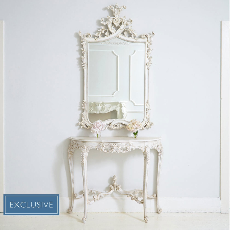 15 Collection Of French White Mirrors