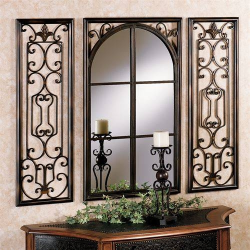 Provence Bronze Finish Wall Mirror Set Regarding Bronze Wall Mirrors (#14 of 20)