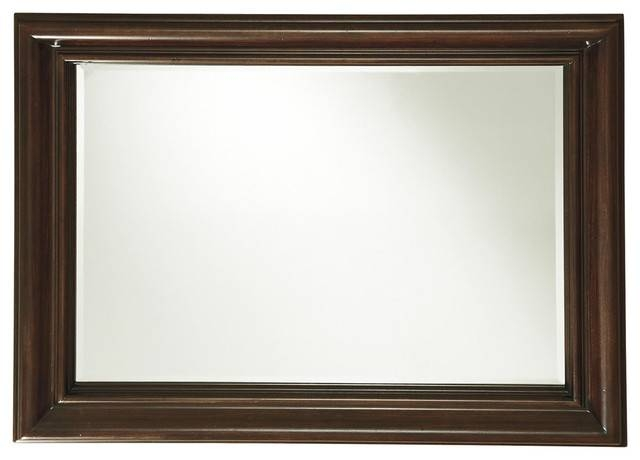 Proximity Wood Frame Landscape Wall Mirror – Traditional – Wall With Regard To Landscape Wall Mirrors (#17 of 30)