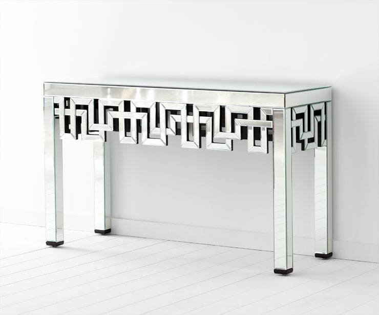 Psara Mirrored Console Tablecyan Design For Mirrors Console Table (#15 of 20)