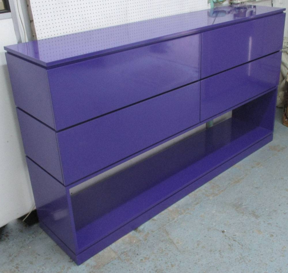 Purple Sideboard, Of Contemporary Design With Four Drawers And With Purple Sideboard (#12 of 20)