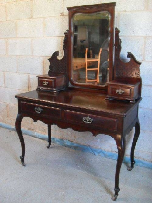 Inspiration about Quality Victorian Mahogany Art Nouveau Mirror Dressing Table Within Art Nouveau Dressing Table Mirrors (#2 of 20)